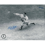 Indians Bob Feller signed 8 x 10 photo COA