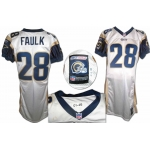 Marshall Faulk 2001 game worn St. Louis Rams Football  Jersey