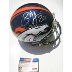 Brian Dawkins signed Denver Broncos Pro Line Full Size Football Helmet PSA/DNA Authenticated