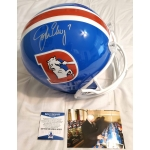 John Elway signed Denver Broncos Full Size Replica Football Helmet Beckett Authenticated