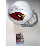 Kurt Warner signed Arizona Cardinals Full Size Replica Helmet JSA Authenticated