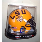 Derrius Guice signed LSU Football Mini Helmet JSA Authenticated