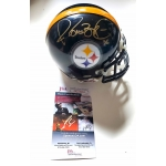 Jerome Bettis signed Pittsburgh Steelers Mini Football Helmet JSA Authenticated