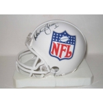 Warren Moon signed Riddell NFL mini helmet