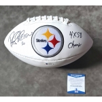 Rocky Bleier signed & inscribed Pittsburgh Steelers Logo Football Beckett Authenticated