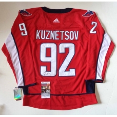 Evgeny Kuzentzov signed Washington Capitals hockey jersey size 54 JSA Authenticated