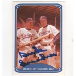Duke Snider signed 1987 TCMA Baseball Card