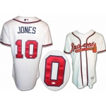 Chipper Jones signed Atlanta Braves jersey size 44 JSA Authenticated