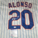 Pete Alonso signed New York Mets baseball jersey PSA Authenticated