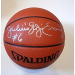 Julius Erving signed Spalding Official Game Day NBA Basketball JSA Authenticated