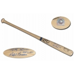 Bobby Thomson Ralph Branca dual signed and inscribed Rawlings Baseball Bat MLB Authenticated