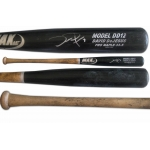 David DeJesus 2011 signed uncracked game used MAX Baseball bat
