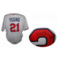 Delmon Young Twins 2011 signed game used jersey w/COA