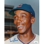 Ernie Banks signed 8 x 10 photo JSA Authenticated