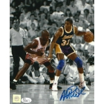 Magic Johnson signed 8 x 10 photo w/ JSA Authentication
