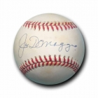 Joe DiMaggio signed American League Baseball w/JSA LOA