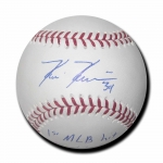 Kevin Kiermaier signed Official Major League Baseball with 1st hit inscription