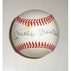 Mickey Mantle signed Official American League Baseball JSA Authenticated