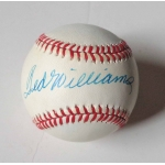 Ted Williams signed Official American League Baseball JSA Authenticated