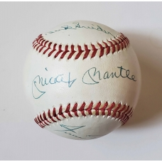 Mickey Mantle Willie Mays Duke Snider signed National League Baseball JSA Authenticated